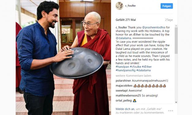Hanpanmaker Coulin Foulkes trifft Dalai Lama