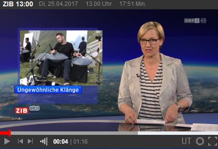 Manu Delago in der ZIB (ORF)