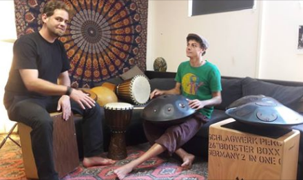 Gernot Fleck/Marcel Hutter – Handpan- und Percussionworkshop – 03.06.2018 – 4707 Schlüßlberg(AT)