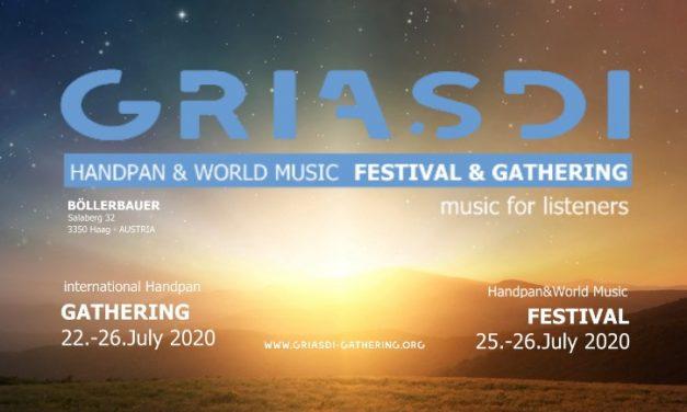 """""""Griasdi"""" Handpan Festival- 2020 Early Bird Tickets jetzt erhältlich"""