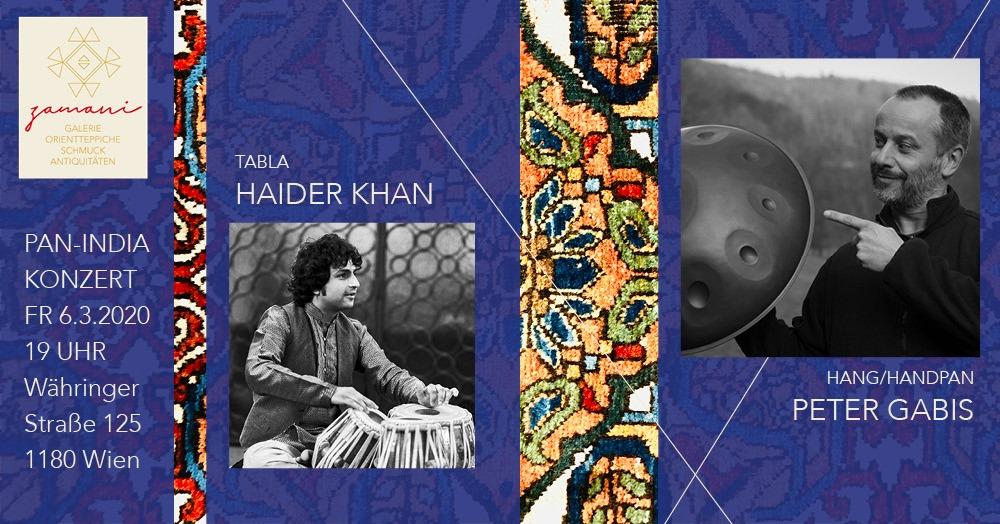 PAN-INDIA PROJECT- Haider Khan und Peter Gabis – 6.3.2020/Wien (AT)